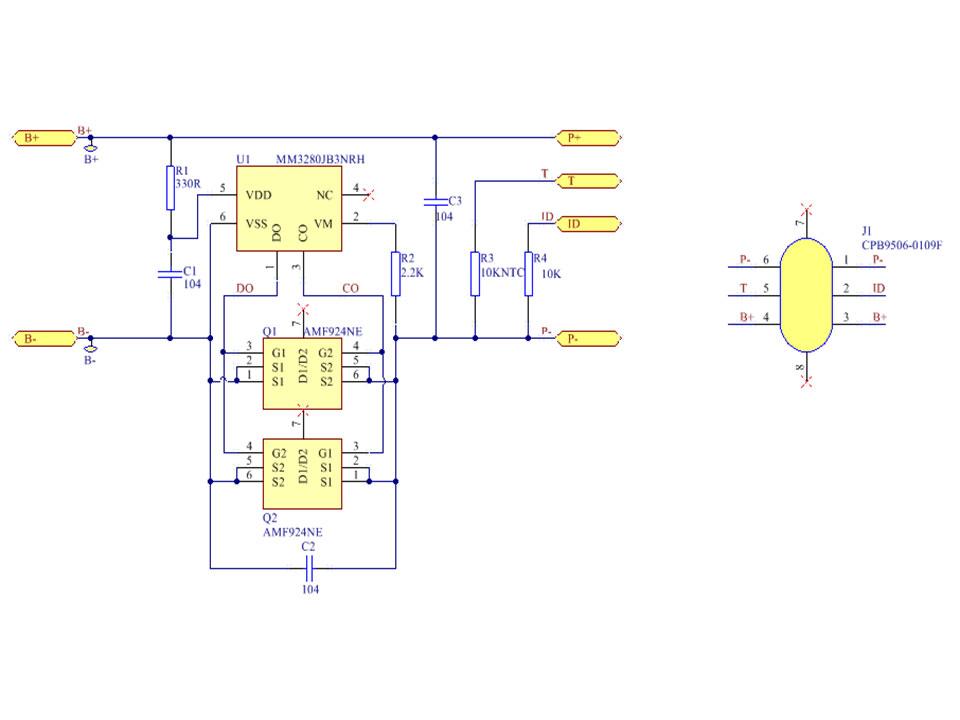 1串4.5A单节锂电池保护板方案